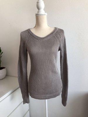 Brauner Leinen Pullover