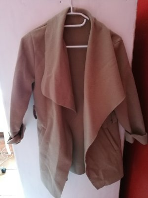 Abrigo de lana marrón claro