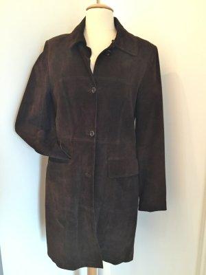 Brauner Mantel aus Wildleder!