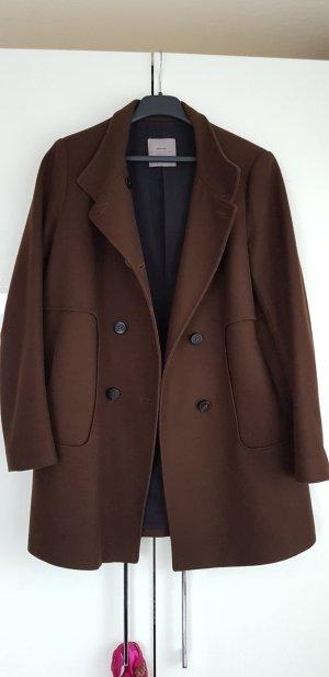 Zara Abrigo marrón oscuro
