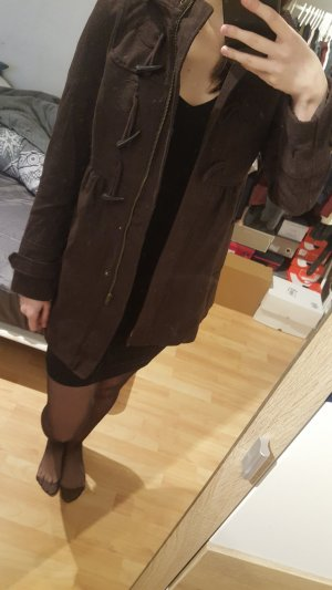 H&M Duffel Coat dark brown-black brown