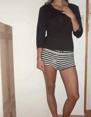 Maglione di lana marrone scuro-marrone-nero Lana merino