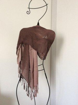 Brauner Pashmina Schal sehr weich und dünn