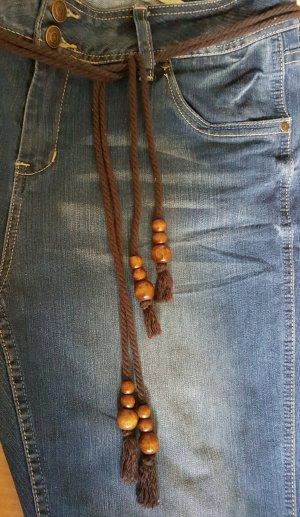 Cinturón marrón-coñac