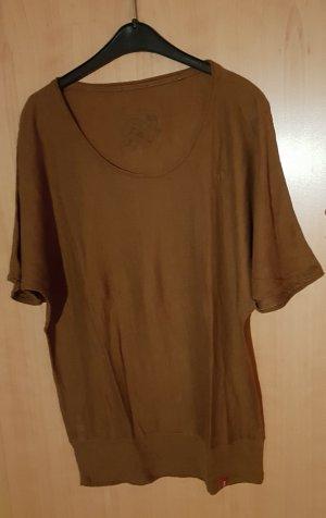 edc Sweater met korte mouwen brons-bruin