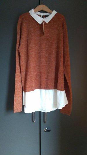 Brauner Pullover mit Hemd Esmara M