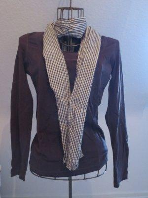brauner Pullover mit passendem Schal, von Esprit