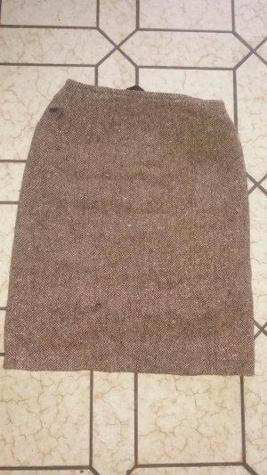Brauner Rock mit Wolle von Stefanel