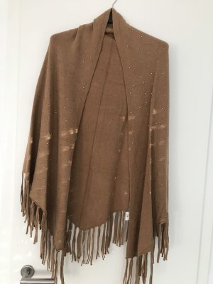 0039 Italy Knitted Scarf brown-light brown