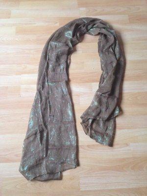 Brauner Schal mit Glitzer Elementen