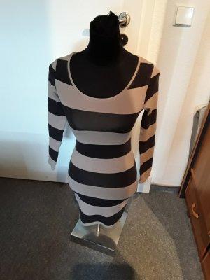 brauner/schwarzer Pulli / Kleid - gestreift - Divided - Gr. 34