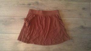 Brauner Sommerrock mit schönen Seitentaschen