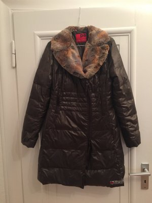 Personal Affairs Quilted Coat brown mixture fibre