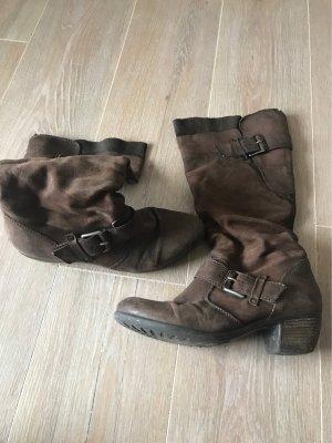Oxmox Jackboots dark brown-black brown