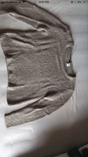 H&M Coarse Knitted Sweater grey brown