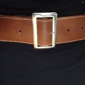 Brauner Taillengürtel aus Leder