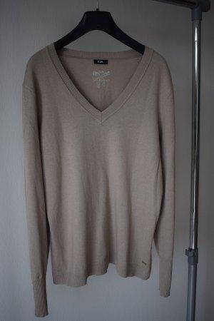 Brauner V-Ausschnitt Pullover