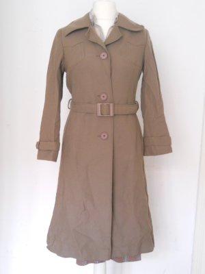 Brauner Vintage Mantel Gr. 36 im Trenchcoat-Stil