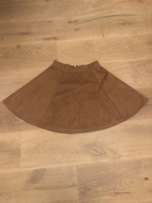 H&M Faux Leather Skirt brown