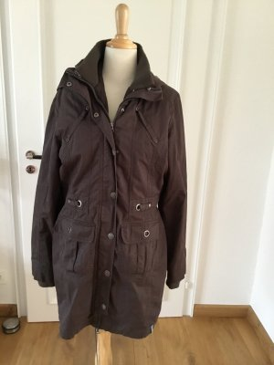 Tchibo / TCM Abrigo con capucha marrón