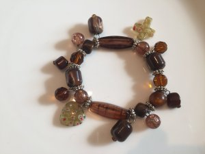 Bracelet multicolored synthetic material