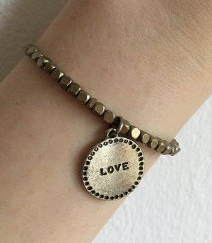 Braunes Armband mit Anhänger LOVE Accessorize