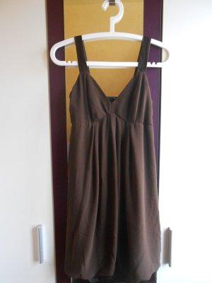 Braunes Chiffon Kleid in Größe 38