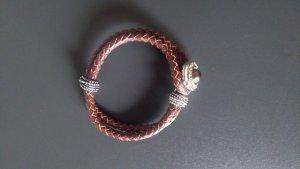 Braunes Flechtarmband