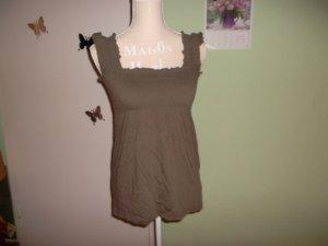 braunes hängerchen/bluse/shirt in braun und ohne arm.grösse 36,neu