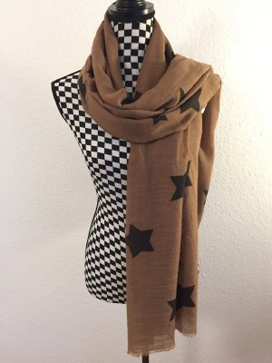 Foulard marron clair-noir