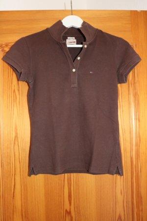 Braunes Hilfiger-Poloshirt