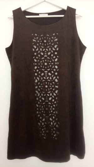 braunes Kleid von Promod mit Ornamentmuster