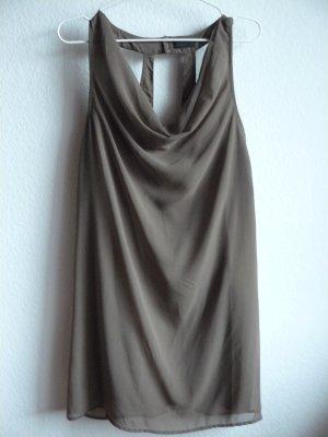 braunes Kleid von Vero Moda mit Wasserfallkragen und schönem Rücken