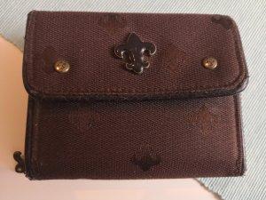 Braunes kompaktes Portemonnaie
