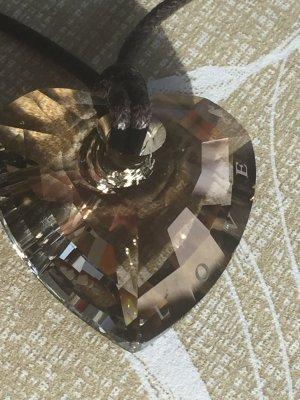 Braunes Kristallherz von Swarovski