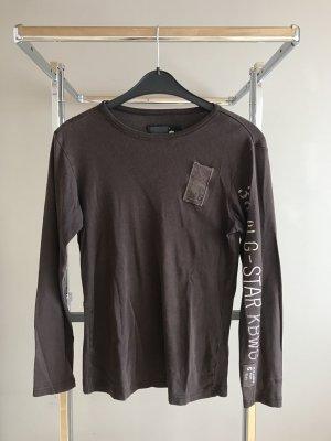Braunes lang arm Shirt
