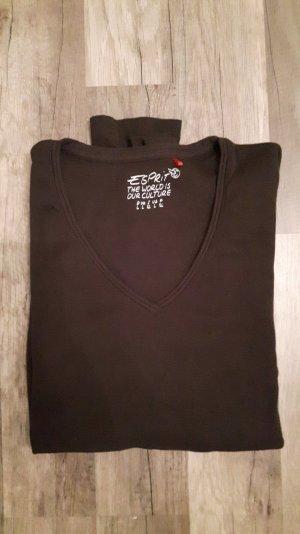 braunes Langarm Shirt von Esprit