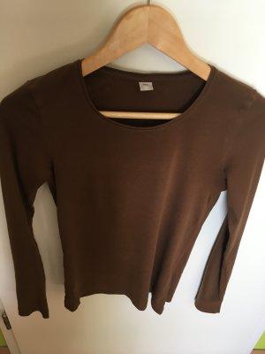Braunes Langarm T Shirt