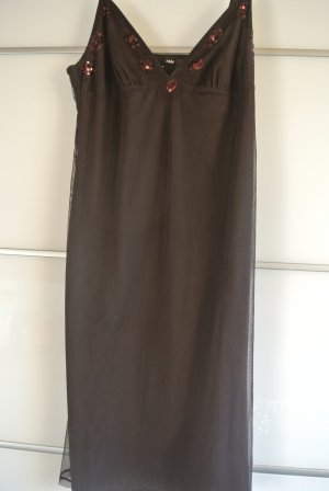 H&M Overgooier donkerbruin Polyester