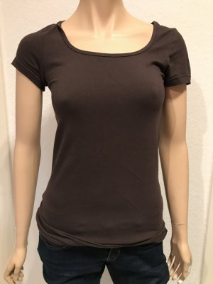 Braunes Longshirt basic
