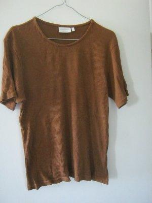 braunes Ripp-Shirt von canda