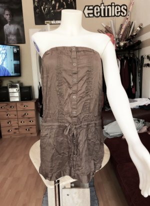 Braunes Rückenfreies Kleid M