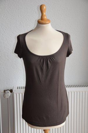 Braunes Rundhals-Shirt von Promod
