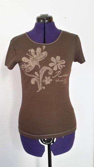 Braunes Shirt mit Print