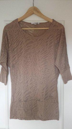 Braunes Shirt mit Tiermuster