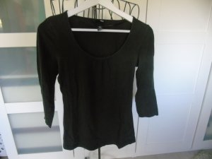 H&M Short Sleeve Sweater dark brown