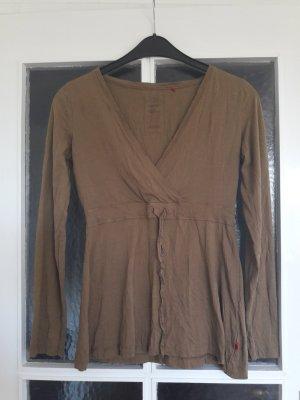 Braunes Shirt von S.Oliver Gr. S Knitteroptik
