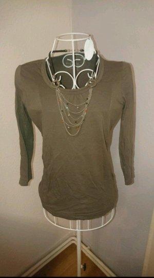 Braunes Shirt von S. Oliver mit 3/4 Arm