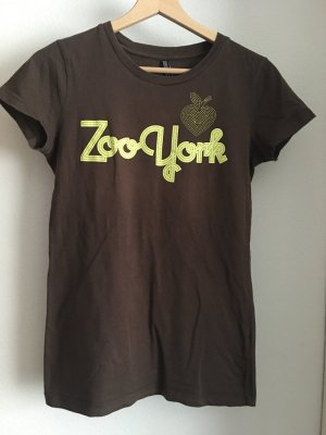 braunes shirt von zoo york