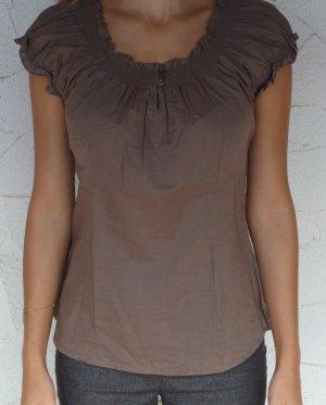 Braunes Sommer-Baumwolle Shirt von Zara